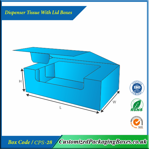 Dispenser Tissue With Lid Boxes