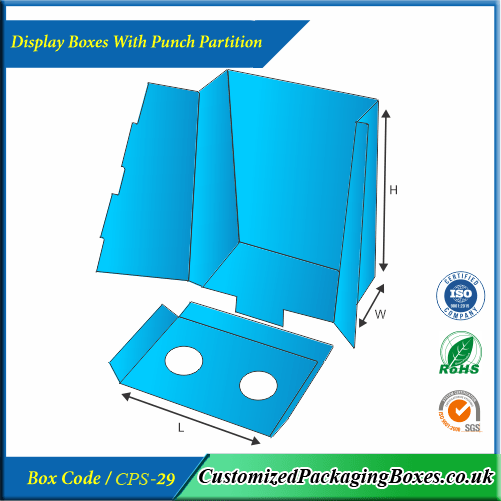 Display Boxes With Punch Partition 2