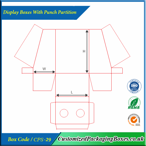 Display Boxes With Punch Partition